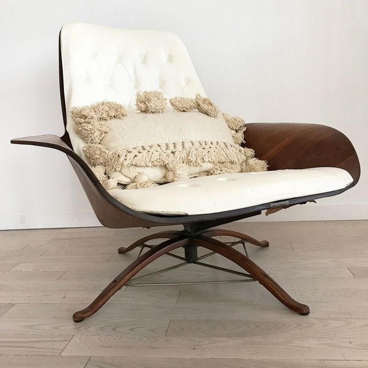 Mid century mulhauser mrchair for plycraft chair