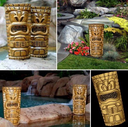 Tiki SPEAKERS! What!?!? Perfect For A Tropical Backyard