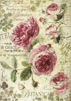 Rice Paper for Decoupage Decopatch Scrapbook Craft Sheet Romantic Angels Roses