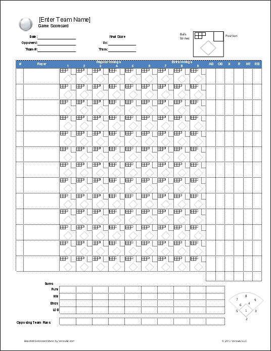 Download A Free Baseball Roster Template For Excel Featuring Lineup Sheet With Auto Rotation And Printable Scorecard