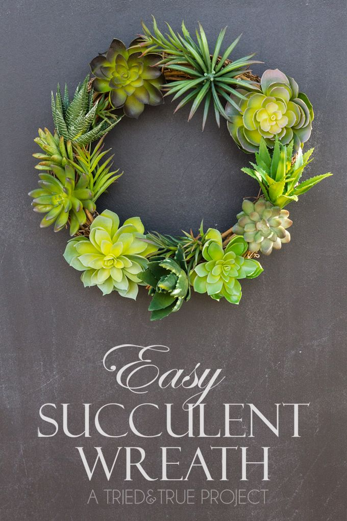 A super easy way to make your own Succulent Wreath (with just a few supplies!)