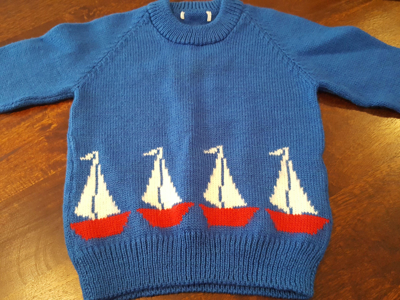Sail Boat Knit