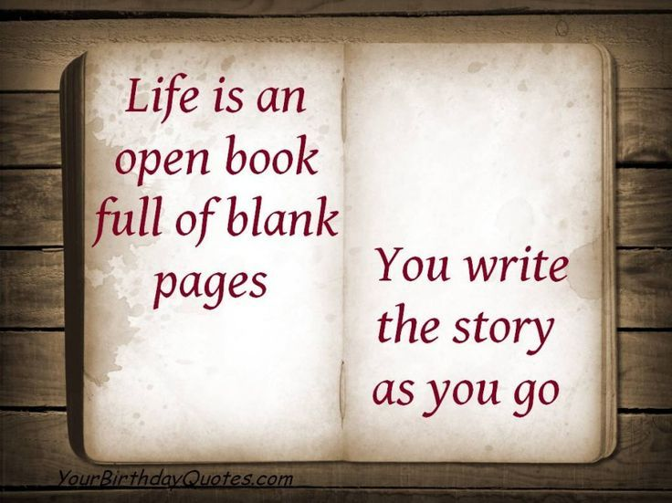 Awesome Quotes About Life Open Book Blank Pages Story |  YourBirthdayQuotes.com Best Quotes Life Check More At  Http://bestquotes.name/pin/131091/