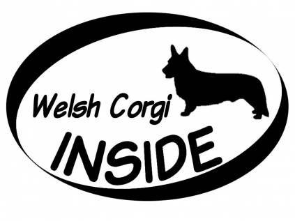 Hund Inside Auto AufkleberInside Aufkleber: Welsh Corgi