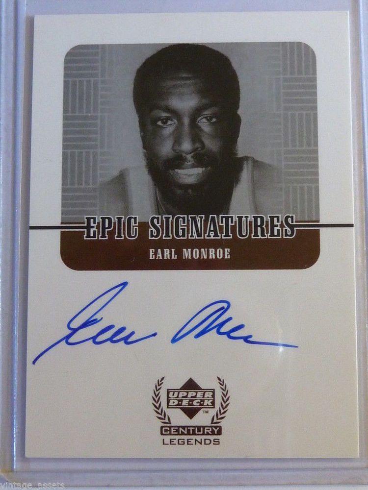 1999 EARL Pearl MONROE Upper Deck Century Legends Epic Signatures Autograph Card #NewYorkKnicks