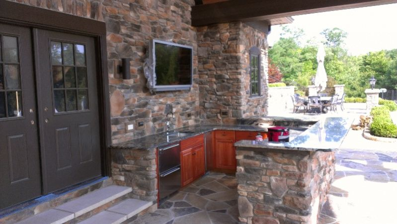 outdoor brick fireplace yeah that sounds good - Google Search