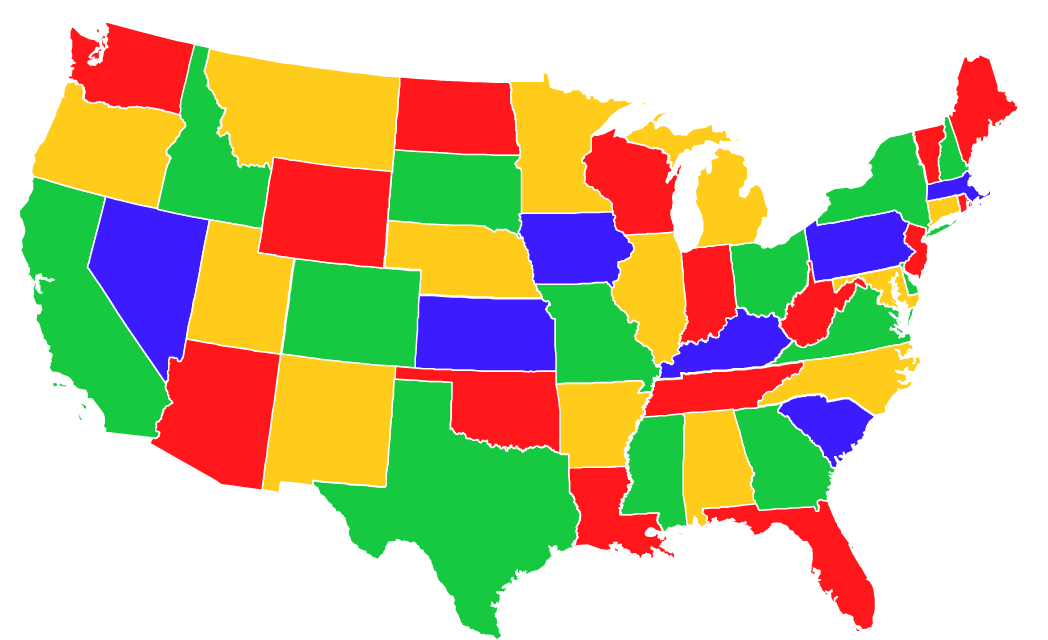 Neil Freeman This Is One Of Nineteen Trillion Simple Maps Of The - Neil freeman us map