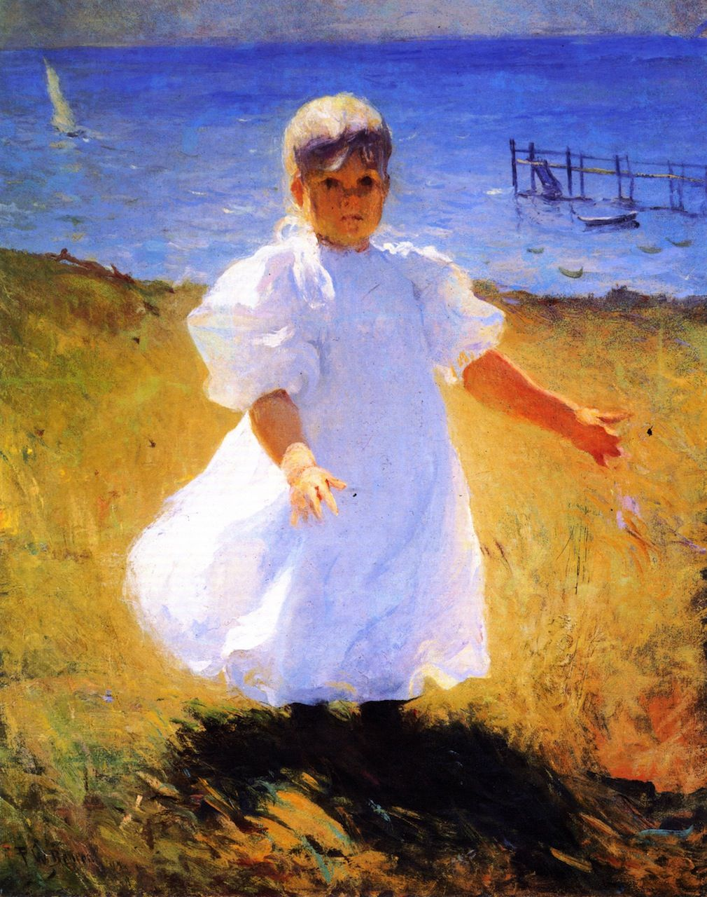 """Child in Sunlight,"" Frank Benson, 1899, Oil on canvas, 30 x 24.13"", Private collection."