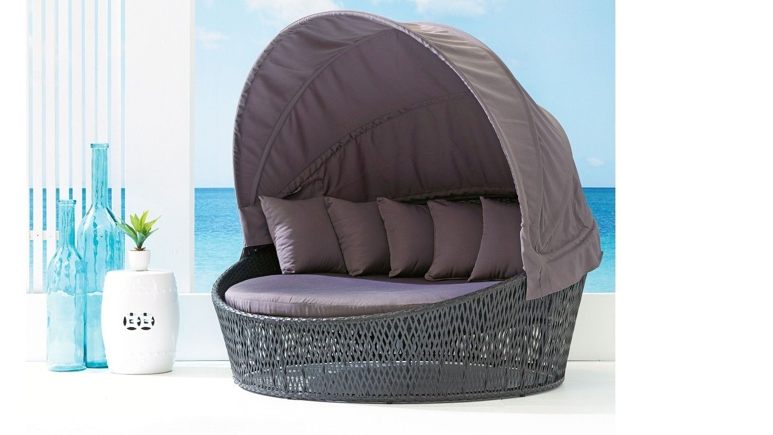 Whether You Like To Relax In The Sun Or In The Shade The San Remo Daybed  Has You Covered With The Retractable Hood And Gorgeous Curved Frame That  You Will ...