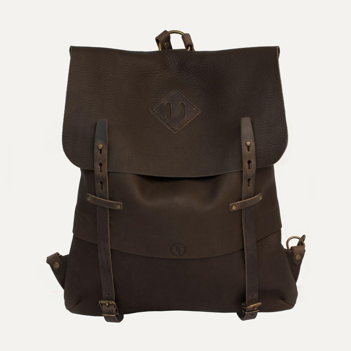 sac dos coursier cuir kenya coursier backpack kenya bleu de chauffe made in france. Black Bedroom Furniture Sets. Home Design Ideas