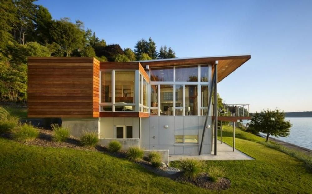Amazing Modern Lake House Plans | ... House Design With Simple And Modern Ideas : Good Ideas