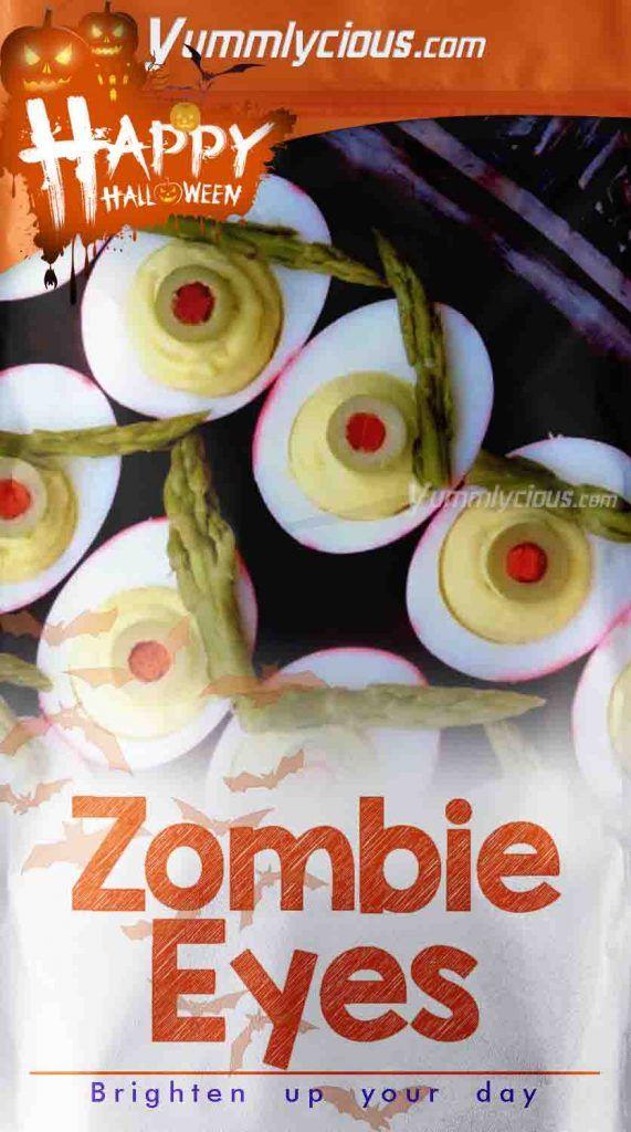 Edible Halloween Crafts  Zombie Eyes Recipe   Yummlycious