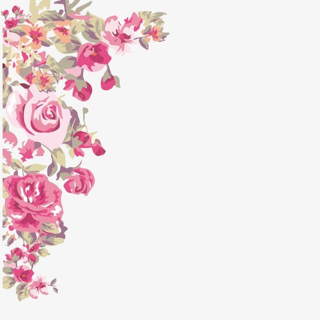 Painted Flowers Corner Corner Clipart Painted Flowers Png