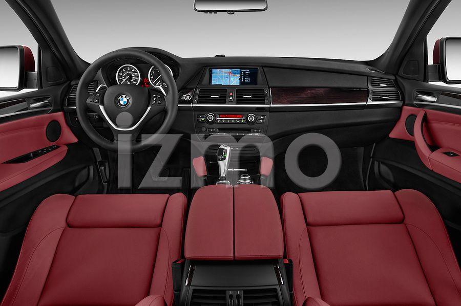 Dashboard View Of Red 2013 Bmw X6 Xdrive35i Suv Bmw X6 Bmw