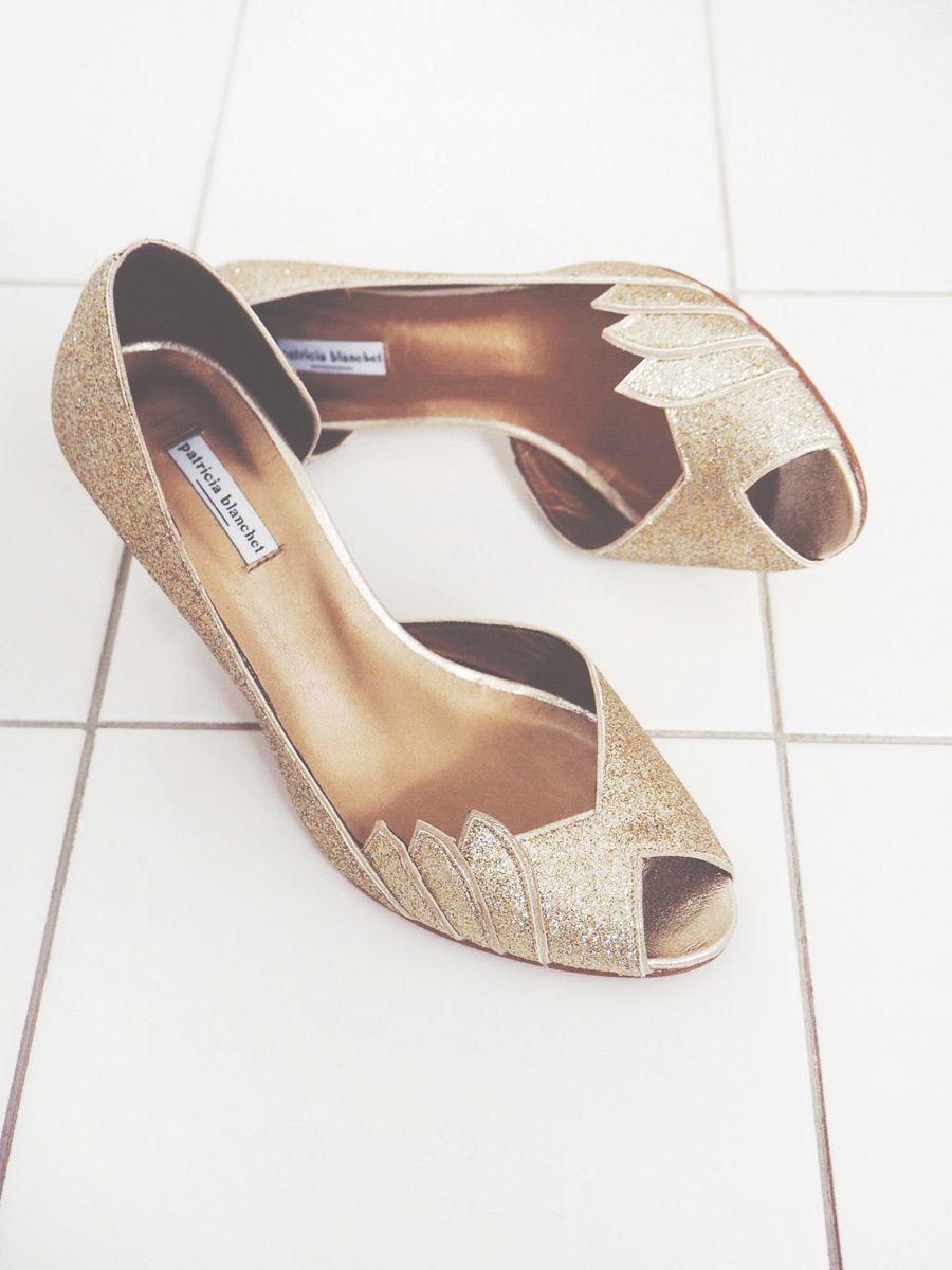Glitter Shoes Escarpins Dores Mariage Patricia Blanchet Shoes