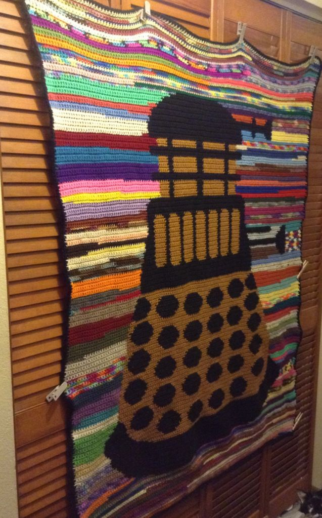 Scrappy Dalek Afghan Pattern With Chart Crochet Afghan Patterns