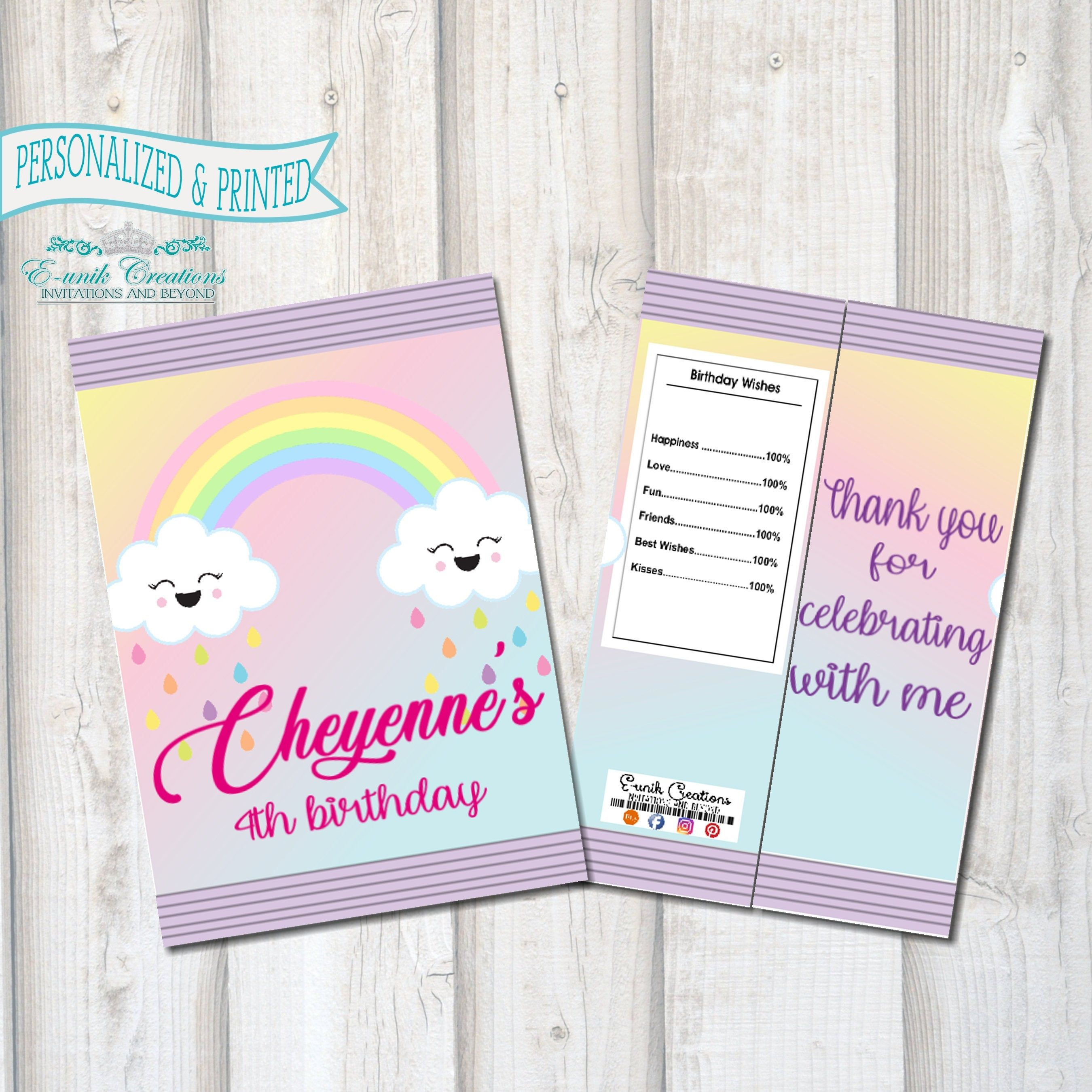 Personalized Label for Candy Cookies Party Favor Bags Girls Birthday Party Bag Topper Labels Bear with Pink Cupcake