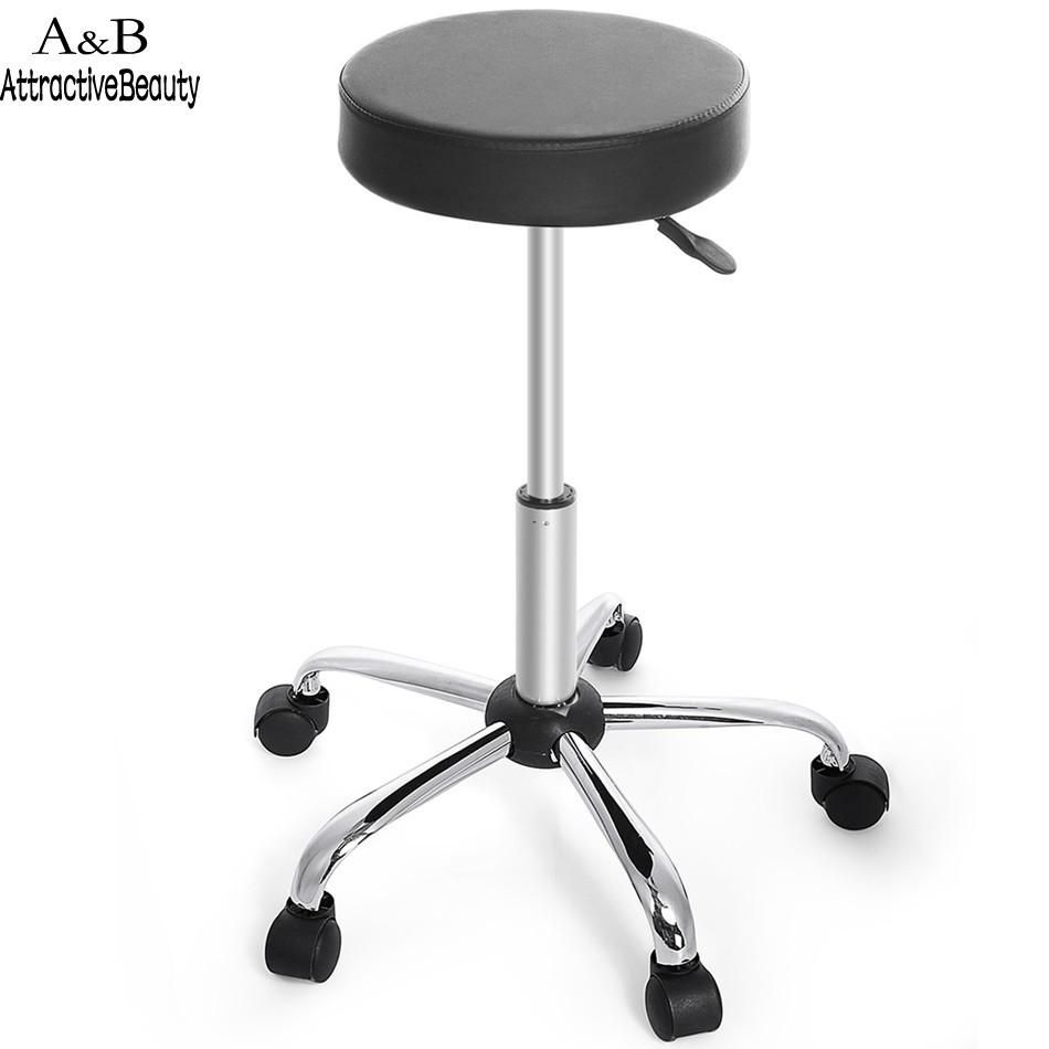 Remarkable Synthetic Leather Round Barstool Adjustable High Wheels Bar Gmtry Best Dining Table And Chair Ideas Images Gmtryco