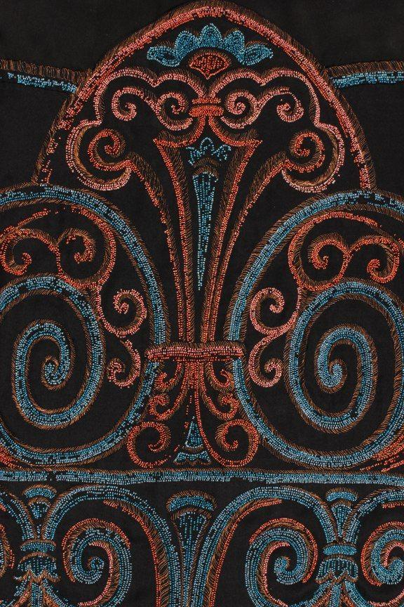 A Callot Soeurs beaded satin evening gown [detail], c. 1925