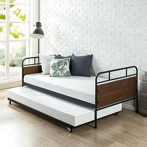 Amazon Com Zinus Ironline Twin Daybed And Trundle Frame