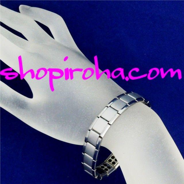 ゲルマニウム・チタン・ステンレス・アクセサリー・パワーブレスレット・シルバーカラー・長さ調整も簡単 - shopiroha.com ジュエリー・アクセサリー・通販