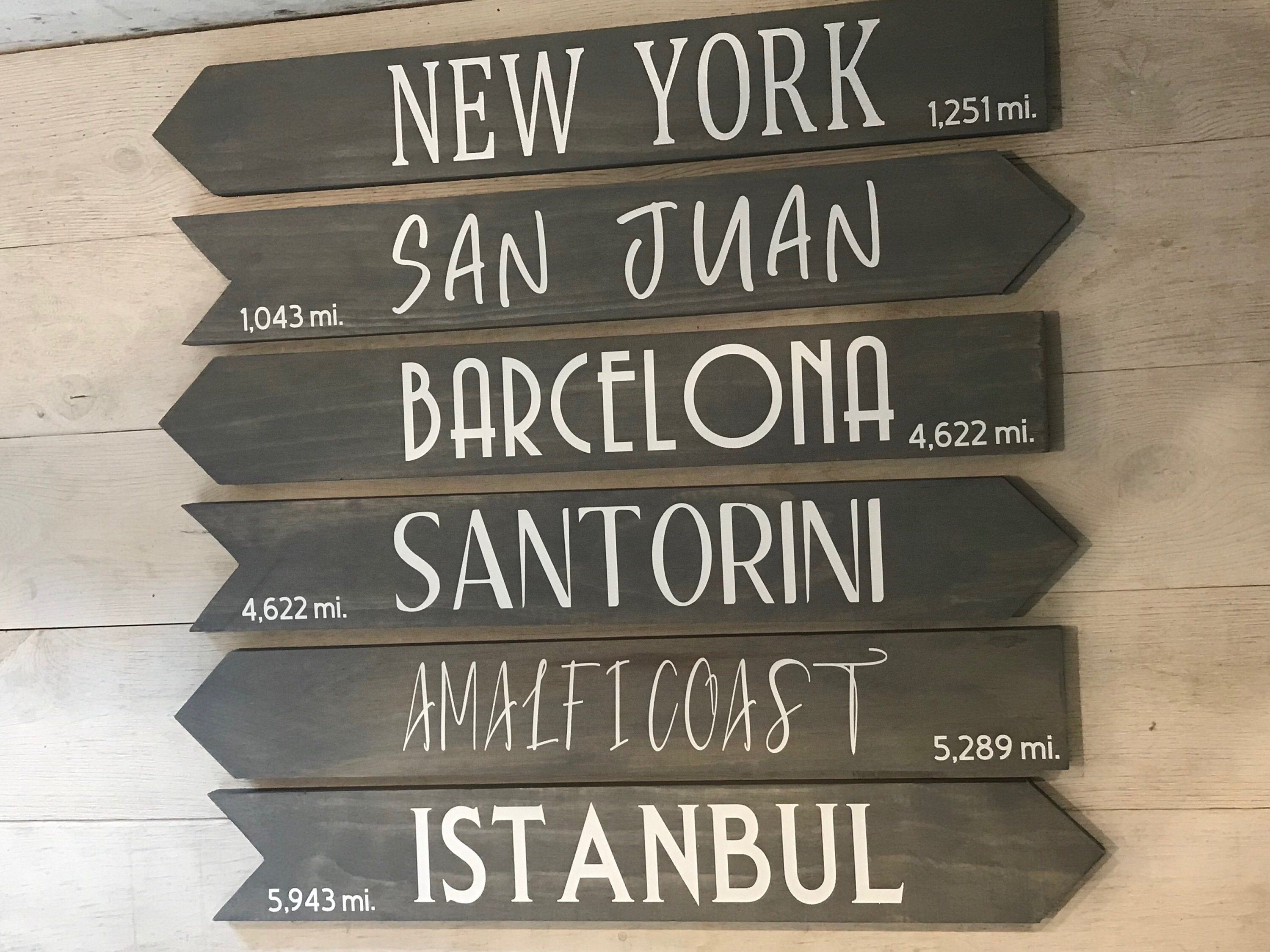Directional Signs Destination Signs Arrow Sign Yard Etsy Directional Signs Patio Signs Arrow Signs