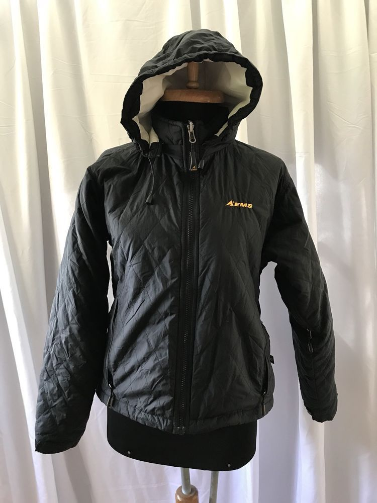 EMS Eastern Mountain Sports Quilted Hoodie Primaloft