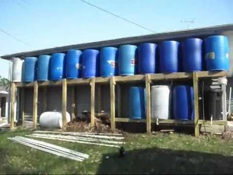 This Is The Last Video In My Rain Barrel System Series The Entire System Has Now Been Constructed And Consists Of Rain Barrel Compost Tea Rain Barrel System