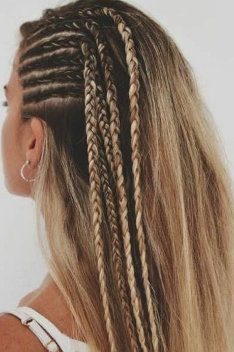 Fascinating Side Dutch Braids On Blonde Hair Famous Hairstyles Thick Hair Styles Braids For Long Hair