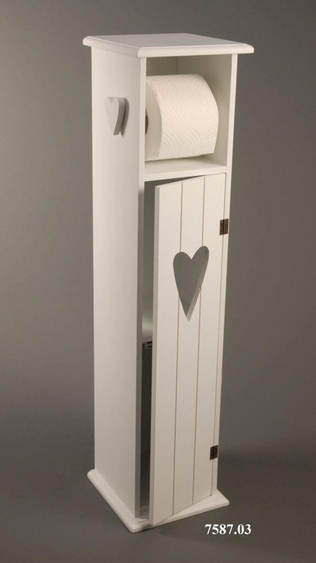 Toilettenpapierhalter Toilettenpapierständer Holz Weiß   H75cm: Amazon.de:  Küche U0026 Haushalt
