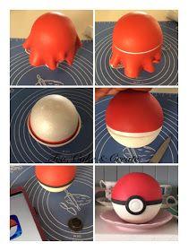 Pokemon Cake Pokeball Topper