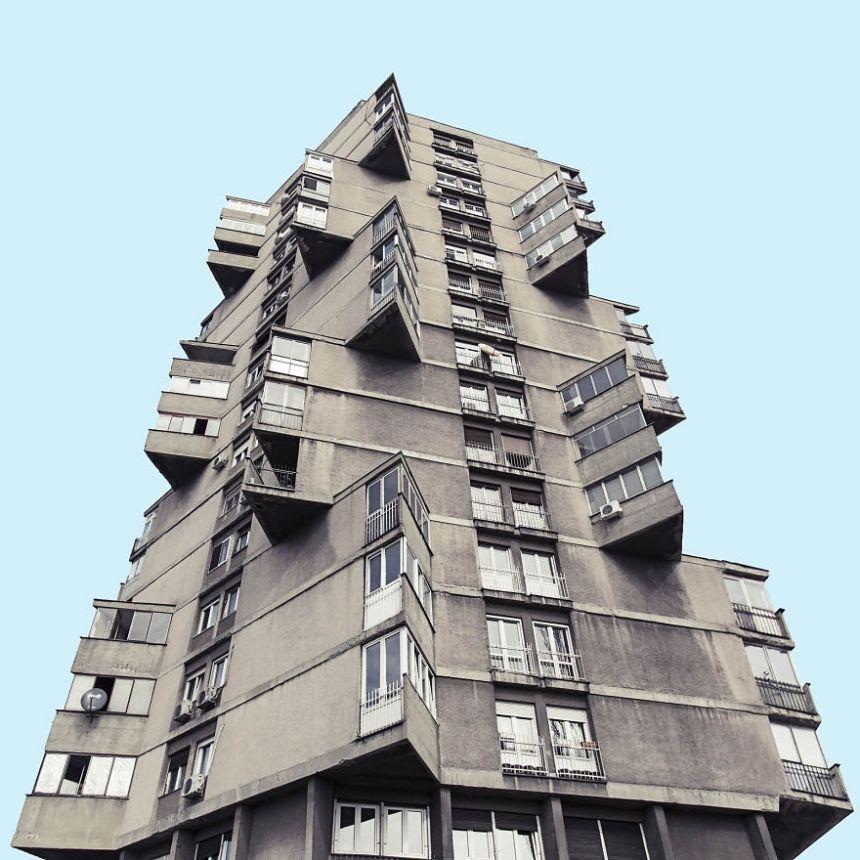 Architecture Photography Series minimal belgrade: futuristic photography series captures