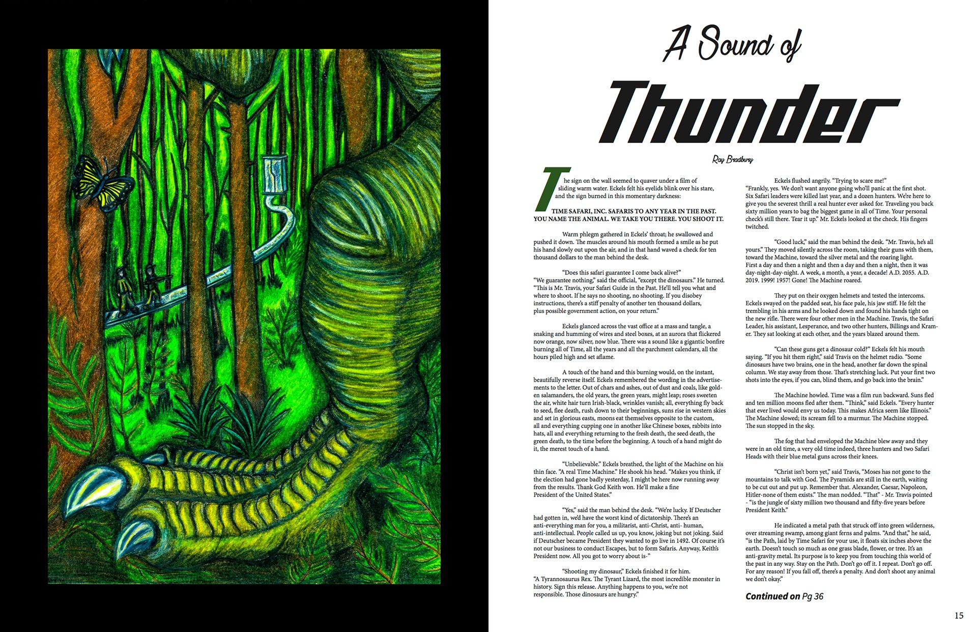 This Is An Illustration For A Sound Of Thunder Short