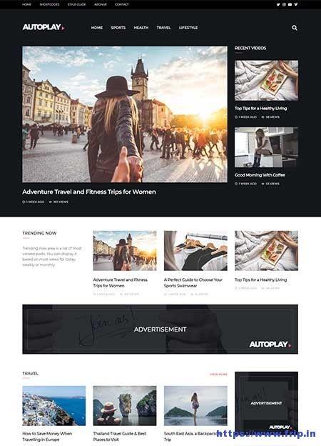 Autoplay Video WordPress Theme By Theme Junkie Wordpress