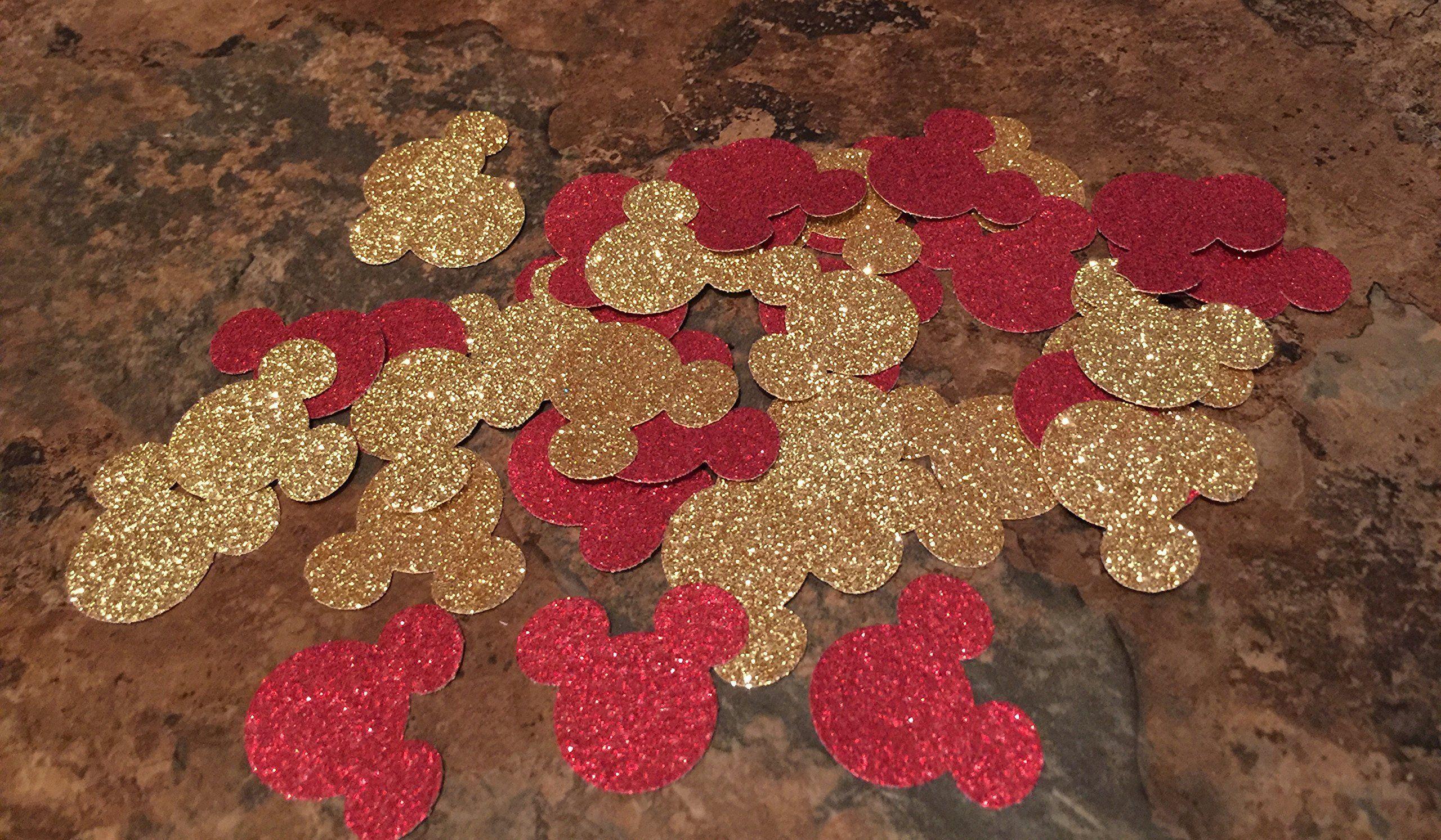 Table Decor 1 inch 100 Pieces Glitter Party Decoration Mouse Glitter Paper Confetti