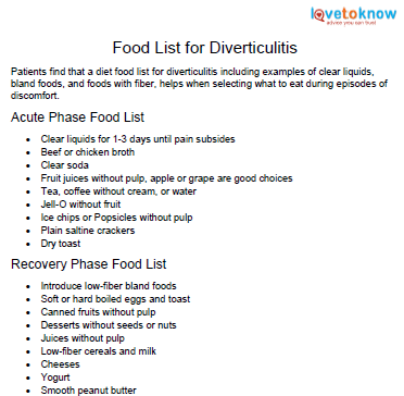how long to do liquid diet for diverticulitis