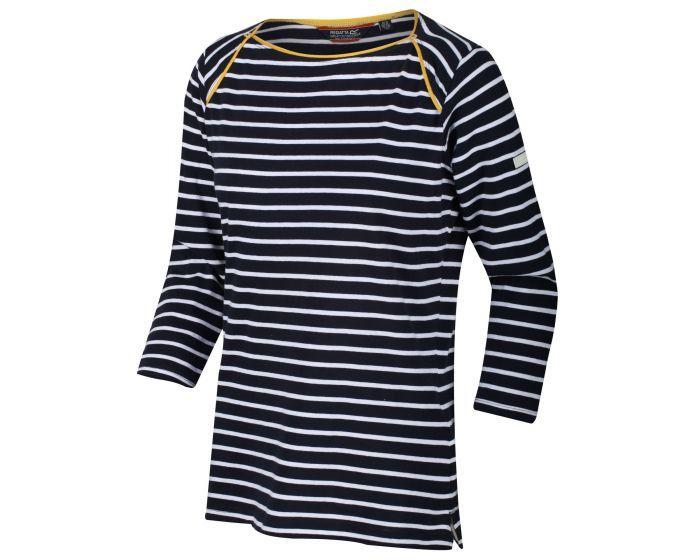 Women's Polina Printed Long Sleeved T-Shirt Navy Stripe