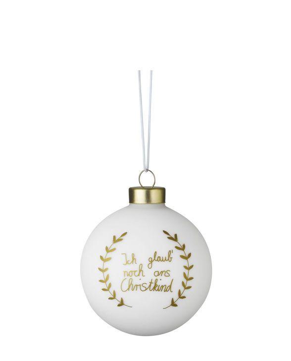 Weihnachtszauber Kugel Ich glaub noch gold One Size