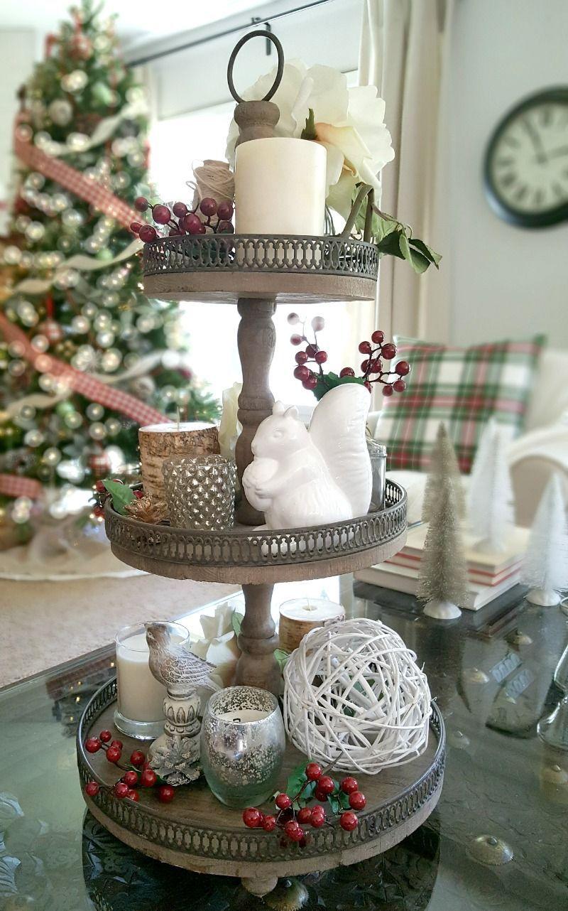Wedding tray decoration ideas  Home for the Holidays Blog Tour  The Design Twins  DIY Home Decor