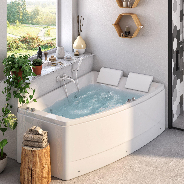 Tablier De Baignoire D Angle Tablier De Baignoire D Angle Tablier Pour Baignoire D Angle 140 X 140 Cm Acrylique Coloris Blanc Duree Tub Outdoor Decor Bathtub