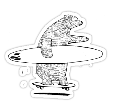"""""""Going Surfing"""" Stickers by David Barneda 