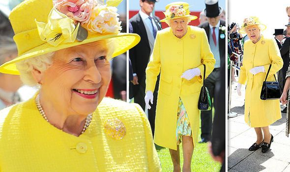Queen is a ray of sunshine in a yellow ensemble