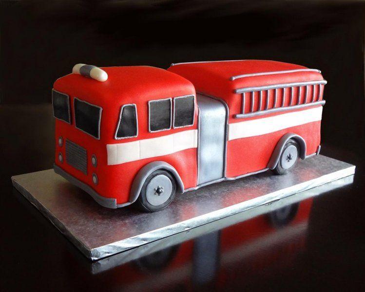 Fire Truck Cake Topper Tutorial