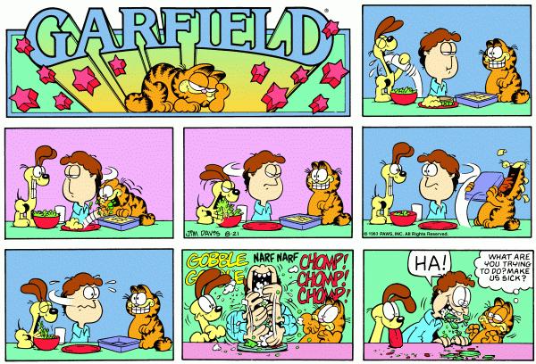 Garfield Lasagna Google Search Garfield Comics Comic Strips Garfield Cartoon