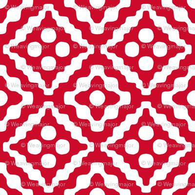 Christmas Diamond (detail) - (weavingmajor - spoonflower)