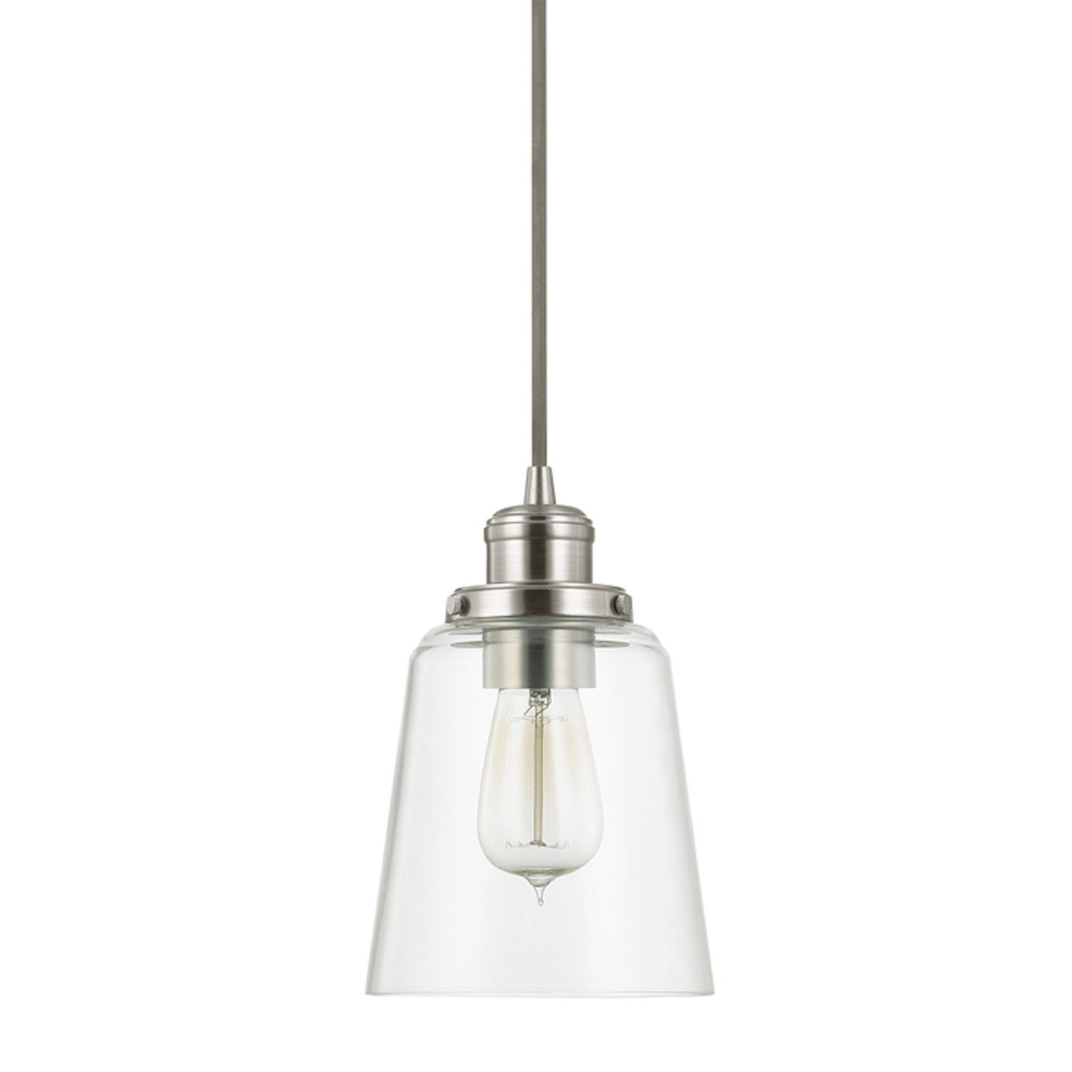 Small Pendant Lights For Kitchen: Capital Lighting 3718BN-135 Brushed Nickel Mini Pendant