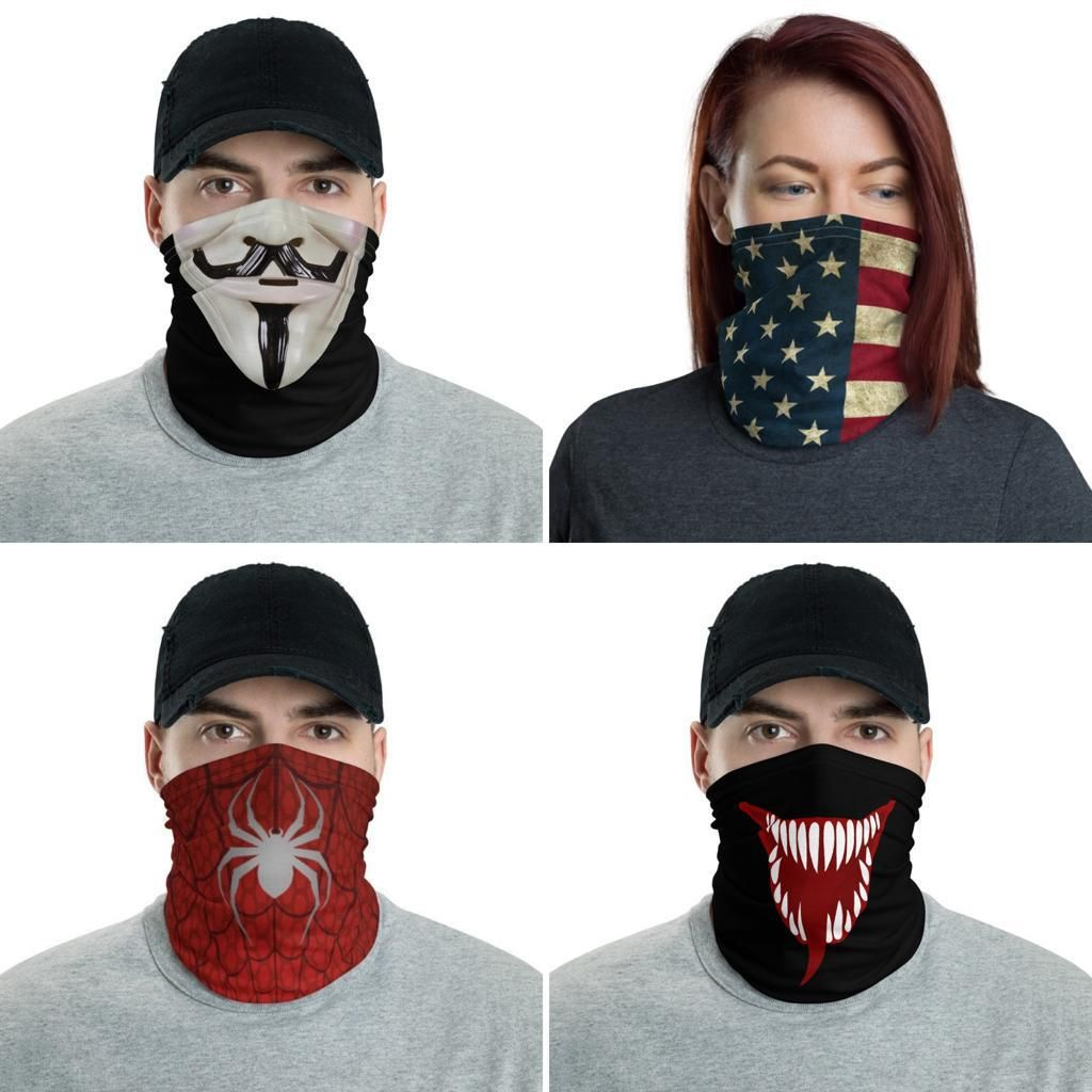 Face Mask Neck Warming Design Sneakers Men Fashion Face Mask Flag Face