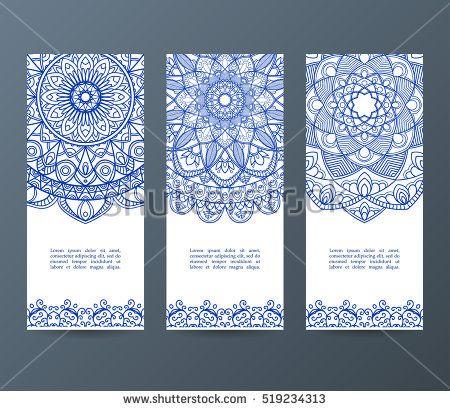 Set of flyers, brochures, templates design Vintage cards with - flyers and brochures templates