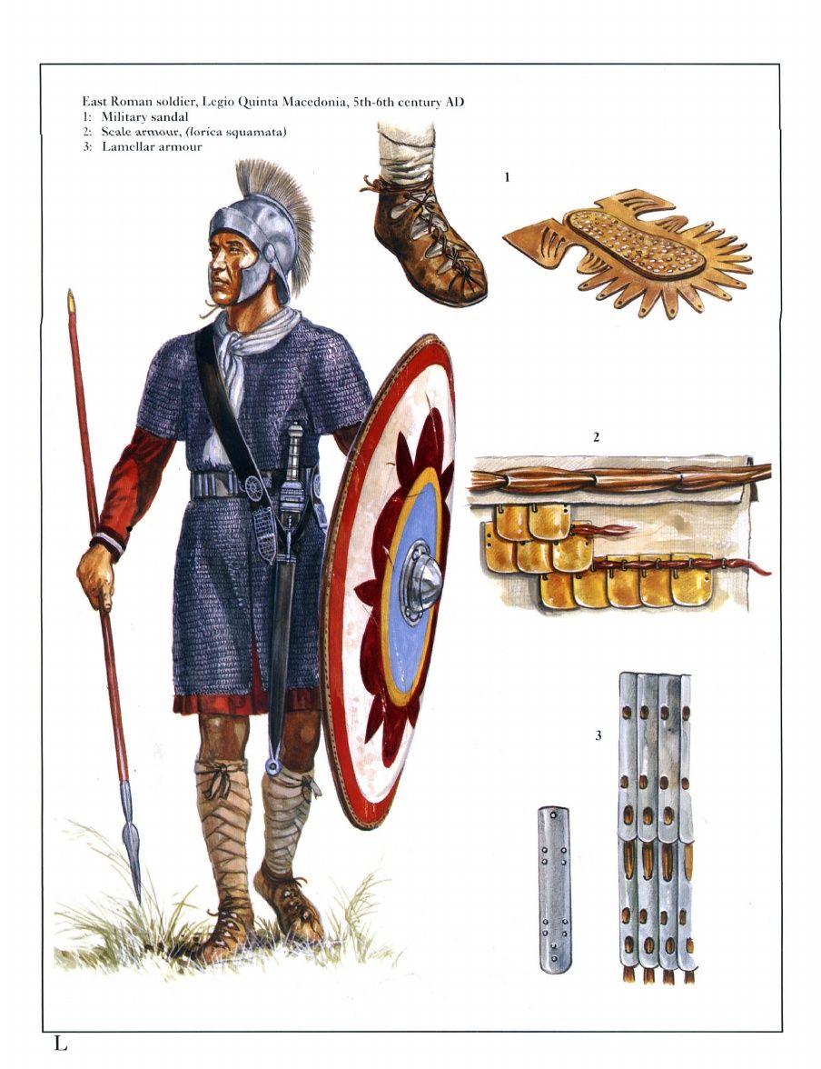 east roman soldier legio quinta macedonia 5th 6th century ad