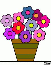 Resultado De Imagem Para Desenho De Vasos De Flores Colorido Com